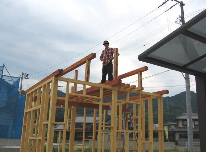 「DIYで木造物置製作5」いよいよ棟上げ編