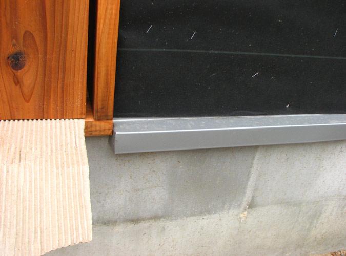 「DIYで木造物置製作10」土台水切り編