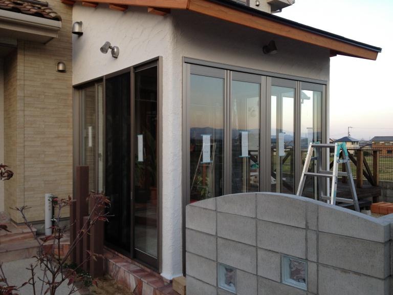 「DIYでサンルーム温室14」外壁塗り編